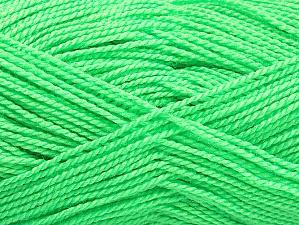 Fiber Content 100% Acrylic, Neon Green, Brand Ice Yarns, Yarn Thickness 1 SuperFine  Sock, Fingering, Baby, fnt2-63388