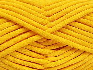 Fiber Content 60% Polyamide, 40% Cotton, Yellow, Brand Ice Yarns, Yarn Thickness 6 SuperBulky  Bulky, Roving, fnt2-63435
