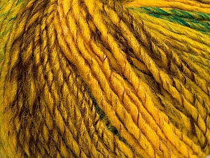 Fiber Content 70% Acrylic, 30% Wool, Yellow, Brand Ice Yarns, Green, Gold, Brown, Yarn Thickness 4 Medium  Worsted, Afghan, Aran, fnt2-63451
