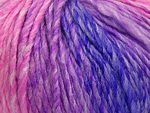 Fiber Content 70% Acrylic, 30% Wool, Purple, Pink Shades, Lilac Shades, Brand Ice Yarns, Yarn Thickness 4 Medium  Worsted, Afghan, Aran, fnt2-63453