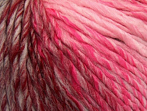 Fiber Content 70% Acrylic, 30% Wool, Pink Shades, Light Grey, Brand Ice Yarns, Burgundy, Yarn Thickness 4 Medium  Worsted, Afghan, Aran, fnt2-63455
