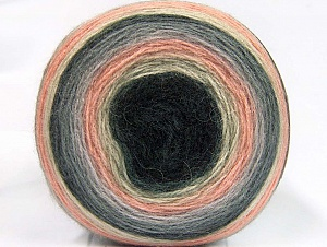 Fiber Content 60% Premium Acrylic, 20% Mohair, 20% Wool, Light Salmon, Brand Ice Yarns, Grey Shades, Cream, Yarn Thickness 2 Fine  Sport, Baby, fnt2-63716