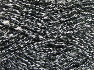 Fiber Content 100% Acrylic, White, Brand Ice Yarns, Black, Yarn Thickness 6 SuperBulky  Bulky, Roving, fnt2-64006