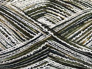 Fiber Content 80% Acrylic, 10% Polyamide, White, Khaki, Brand Ice Yarns, Black, fnt2-64007