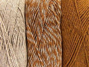 Fiber Content 90% Acrylic, 10% Polyester, Brand Ice Yarns, Caramel, Beige, Yarn Thickness 3 Light  DK, Light, Worsted, fnt2-64017