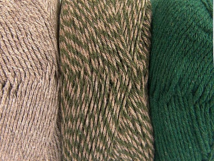 Fiber Content 90% Acrylic, 10% Polyester, Brand Ice Yarns, Dark Khaki, Camel, Yarn Thickness 3 Light  DK, Light, Worsted, fnt2-64019