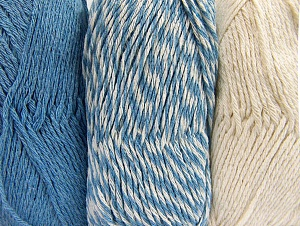 Fiber Content 90% Acrylic, 10% Polyester, Light Blue, Brand ICE, Ecru, Yarn Thickness 3 Light  DK, Light, Worsted, fnt2-64020