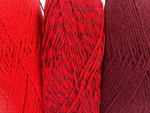 Fiber Content 90% Acrylic, 10% Polyester, Red, Maroon, Brand Ice Yarns, Yarn Thickness 3 Light  DK, Light, Worsted, fnt2-64025