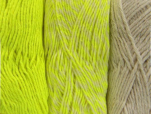 Fiber Content 90% Acrylic, 10% Polyester, Neon Yellow, Brand Ice Yarns, Ecru, Yarn Thickness 3 Light  DK, Light, Worsted, fnt2-64029