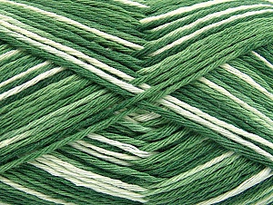 Fiber Content 100% Cotton, Brand Ice Yarns, Green Shades, Yarn Thickness 3 Light  DK, Light, Worsted, fnt2-64038
