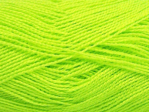 Fiber Content 100% Acrylic, Neon Yellow, Brand Ice Yarns, Yarn Thickness 1 SuperFine  Sock, Fingering, Baby, fnt2-64044