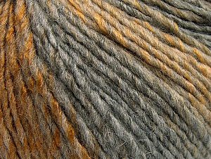 Fiber Content 70% Acrylic, 30% Wool, Brand Ice Yarns, Grey Shades, Gold, Yarn Thickness 4 Medium  Worsted, Afghan, Aran, fnt2-64138