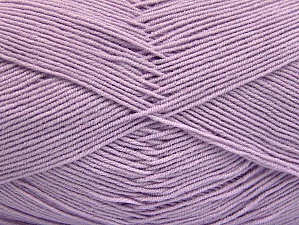 Fiber Content 55% Cotton, 45% Acrylic, Light Lilac, Brand Ice Yarns, Yarn Thickness 1 SuperFine  Sock, Fingering, Baby, fnt2-64142