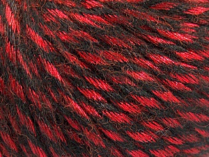 Fiber Content 70% Polyamide, 19% Merino Wool, 11% Acrylic, Red, Brand Ice Yarns, Black, Yarn Thickness 4 Medium  Worsted, Afghan, Aran, fnt2-64146