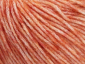 Fiber Content 85% Acrylic, 15% Bamboo, Salmon melange, Brand Ice Yarns, Yarn Thickness 4 Medium  Worsted, Afghan, Aran, fnt2-64152