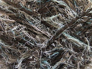 Fiber Content 40% Polyamide, 30% Wool, 30% Acrylic, Mint Dark Green, Brand Ice Yarns, Brown, Yarn Thickness 6 SuperBulky  Bulky, Roving, fnt2-64163