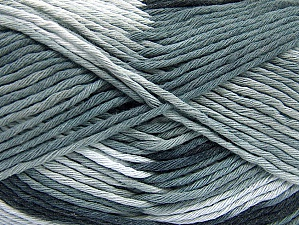 Fiber Content 100% Cotton, Brand Ice Yarns, Grey Shades, Yarn Thickness 4 Medium  Worsted, Afghan, Aran, fnt2-64185