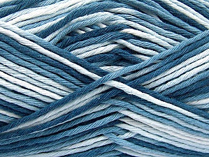 Fiber Content 100% Cotton, Brand Ice Yarns, Blue Shades, Yarn Thickness 4 Medium  Worsted, Afghan, Aran, fnt2-64186