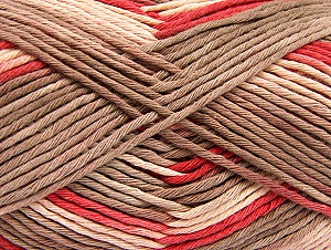 Fiber Content 100% Cotton, Salmon, Brand Ice Yarns, Cream, Camel, Yarn Thickness 4 Medium  Worsted, Afghan, Aran, fnt2-64190