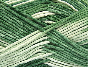 Fiber Content 100% Cotton, Brand Ice Yarns, Green Shades, Yarn Thickness 4 Medium  Worsted, Afghan, Aran, fnt2-64196