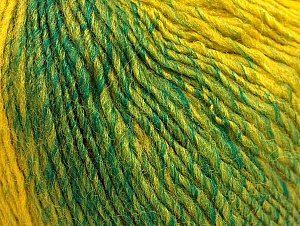 Fiber Content 70% Acrylic, 30% Wool, Brand Ice Yarns, Green, Gold, Brown, Yarn Thickness 3 Light  DK, Light, Worsted, fnt2-64212