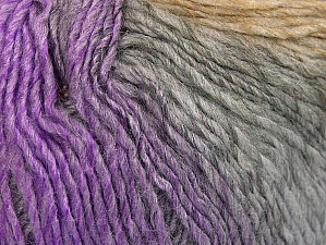 Fiber Content 70% Acrylic, 30% Wool, Lilac Shades, Brand Ice Yarns, Grey Shades, Beige, Yarn Thickness 3 Light  DK, Light, Worsted, fnt2-64213