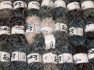 This mixed lot includes a total of 2000 gr (70.5 oz.) yarn. There is no standard for ball weight. Also disregard any information on the labels. You will get what you see in the photo. In this list; you see most recent 50 mixed lots. <br> To see all <a href=&/mixed_lots/o/4#list&>CLICK HERE</a> (Old ones have much better deals)<hr> Brand Ice Yarns, fnt2-64318