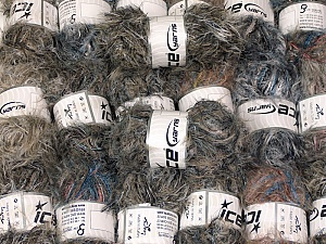 This mixed lot includes a total of 2000 gr (70.5 oz.) yarn. There is no standard for ball weight. Also disregard any information on the labels. You will get what you see in the photo. In this list; you see most recent 50 mixed lots. <br> To see all <a href=&/mixed_lots/o/4#list&>CLICK HERE</a> (Old ones have much better deals)<hr> Brand Ice Yarns, fnt2-64342