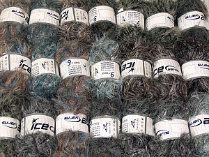 This mixed lot includes a total of 2000 gr (70.5 oz.) yarn. There is no standard for ball weight. Also disregard any information on the labels. You will get what you see in the photo. In this list; you see most recent 50 mixed lots. <br> To see all <a href=&/mixed_lots/o/4#list&>CLICK HERE</a> (Old ones have much better deals)<hr> Brand Ice Yarns, fnt2-64343