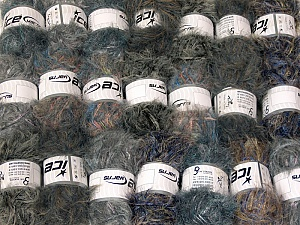 This mixed lot includes a total of 2000 gr (70.5 oz.) yarn. There is no standard for ball weight. Also disregard any information on the labels. You will get what you see in the photo. In this list; you see most recent 50 mixed lots. <br> To see all <a href=&/mixed_lots/o/4#list&>CLICK HERE</a> (Old ones have much better deals)<hr> Brand Ice Yarns, fnt2-64345