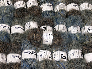 This mixed lot includes a total of 2000 gr (70.5 oz.) yarn. There is no standard for ball weight. Also disregard any information on the labels. You will get what you see in the photo. In this list; you see most recent 50 mixed lots. <br> To see all <a href=&/mixed_lots/o/4#list&>CLICK HERE</a> (Old ones have much better deals)<hr> Brand Ice Yarns, fnt2-64346