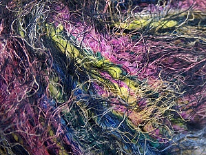 Fiber Content 100% Polyamide, Yellow, Pink, Light Green, Brand Ice Yarns, Dark Navy, Blue, Yarn Thickness 5 Bulky  Chunky, Craft, Rug, fnt2-64397