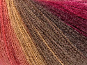 Fiber Content 60% Acrylic, 20% Angora, 20% Wool, Red, Pink Shades, Brand Ice Yarns, Brown Shades, Yarn Thickness 2 Fine  Sport, Baby, fnt2-64425