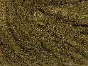 Fiber Content 88% Acrylic, 8% Polyamide, 4% Viscose, Khaki, Brand Ice Yarns, Yarn Thickness 5 Bulky  Chunky, Craft, Rug, fnt2-64432