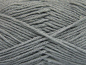 Fiber Content 98% Acrylic, 2% Paillette, Light Grey, Brand Ice Yarns, Yarn Thickness 4 Medium  Worsted, Afghan, Aran, fnt2-64447