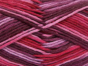 Fiber Content 100% Cotton, Red, Pink Shades, Maroon, Brand Ice Yarns, Yarn Thickness 4 Medium  Worsted, Afghan, Aran, fnt2-64453