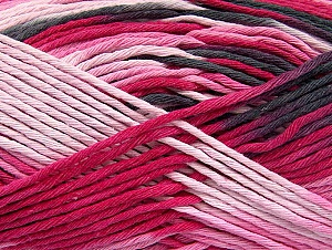 Fiber Content 100% Cotton, Pink Shades, Brand Ice Yarns, Black, Yarn Thickness 4 Medium  Worsted, Afghan, Aran, fnt2-64454