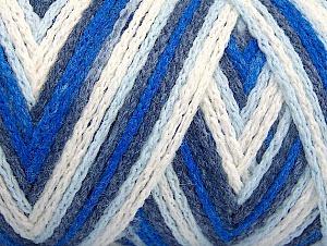 Fiber Content 50% Acrylic, 50% Polyamide, White, Navy, Brand Ice Yarns, Blue Shades, Yarn Thickness 4 Medium  Worsted, Afghan, Aran, fnt2-64465