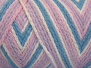 Fiber Content 50% Acrylic, 50% Polyamide, White, Pink, Light Lilac, Light Blue, Brand Ice Yarns, Yarn Thickness 4 Medium  Worsted, Afghan, Aran, fnt2-64467