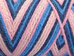 Fiber Content 50% Acrylic, 50% Polyamide, Pink Shades, Brand Ice Yarns, Blue Shades, Yarn Thickness 4 Medium  Worsted, Afghan, Aran, fnt2-64475