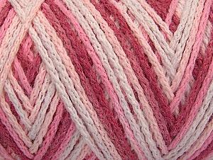 Fiber Content 50% Acrylic, 50% Polyamide, White, Pink Shades, Brand Ice Yarns, Yarn Thickness 4 Medium  Worsted, Afghan, Aran, fnt2-64478