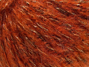 Fiber Content 60% Acrylic, 21% Polyester, 19% Alpaca, Orange, Brand Ice Yarns, Gold, Black, Yarn Thickness 4 Medium  Worsted, Afghan, Aran, fnt2-64609