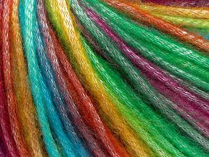 Fiber Content 56% Polyester, 44% Acrylic, Rainbow, Brand Ice Yarns, Yarn Thickness 4 Medium  Worsted, Afghan, Aran, fnt2-64624