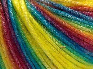 Fiber Content 56% Polyester, 44% Acrylic, Rainbow, Brand Ice Yarns, Yarn Thickness 4 Medium  Worsted, Afghan, Aran, fnt2-64625