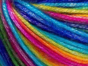 Fiber Content 56% Polyester, 44% Acrylic, Rainbow, Brand Ice Yarns, Yarn Thickness 4 Medium  Worsted, Afghan, Aran, fnt2-64627