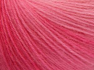 Fiber Content 60% Acrylic, 20% Wool, 20% Angora, Pink Shades, Brand Ice Yarns, Yarn Thickness 2 Fine  Sport, Baby, fnt2-64633