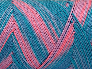 Fiber Content 100% Acrylic, Turquoise Shades, Salmon Shades, Brand Ice Yarns, Yarn Thickness 3 Light  DK, Light, Worsted, fnt2-64647