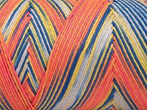 Fiber Content 100% Acrylic, Yellow, Salmon, Brand Ice Yarns, Gold, Blue, Yarn Thickness 3 Light  DK, Light, Worsted, fnt2-64658