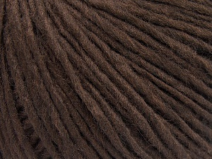 Fiber Content 50% Acrylic, 50% Wool, Brand Ice Yarns, Coffee Brown, fnt2-64669
