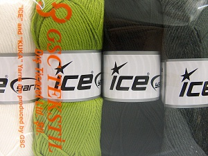 Fiber Content 52% Nylon, 48% Acrylic, Mixed Lot, Brand Ice Yarns, Yarn Thickness 4 Medium  Worsted, Afghan, Aran, fnt2-64671
